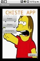Screenshot of Chistes Peruanos