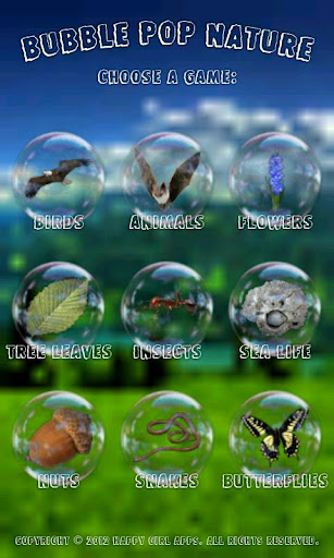 Bubble Nature Kids Game Free