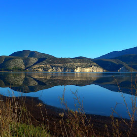 Magic reflection by Eva Ba - Landscapes Waterscapes ( water, reflection, sky, mountain, greece, beautiful, sea, view, kefalonia )