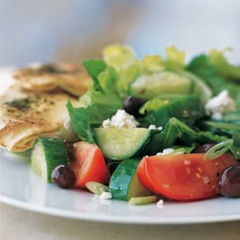 Greek Salad with Herbed Pita