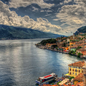 Limone sul Garda by Friedhelm Peters - City,  Street & Park  Vistas ( hdr, colorful, lake, lake garda, italy, limone )
