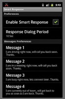 Screenshot of Smart Response (Free)