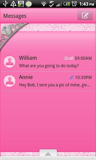 GO SMS - Pink Princess SMS