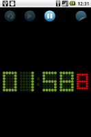 Screenshot of 5x7 LED chronometer