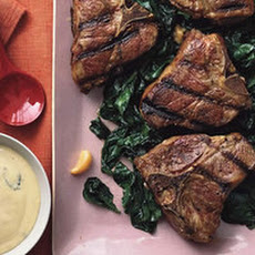 Grilled Lamb Chops with Blender Béarnaise