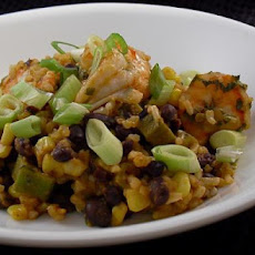 Shrimp With Black Beans, Okra & Fresh Corn