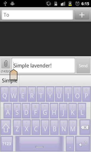 Simple Lavender Keyboard Skin