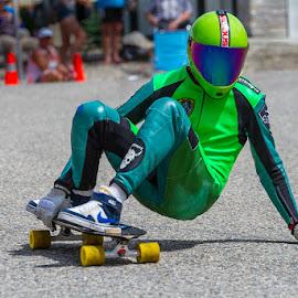 Lettin' It All Hang Out by Ron Mullins - Sports & Fitness Skateboarding ( downhill, longboard, longboard race, race, skateboard )