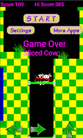 Screenshot of Cow Caves of Mars. Moo Lander