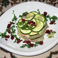 Individual Salmon, Potato and Zucchini Strata
