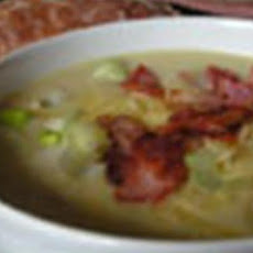 Baked Potato, Leek and Cheese Soup