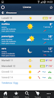 Screenshot of LaMMA Meteo