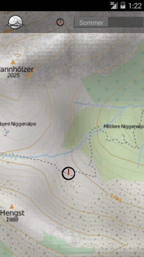 STUBAI ALPS mountain range map - screenshot