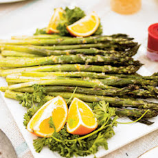 Roasted Asparagus with Dijon-Lemon Sauce