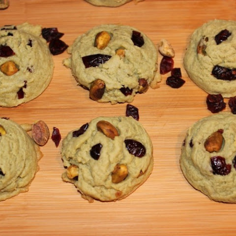 Cranberry & Pistachio Pudding Cookies