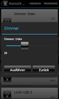 Screenshot of Home24 HomeMatic Control