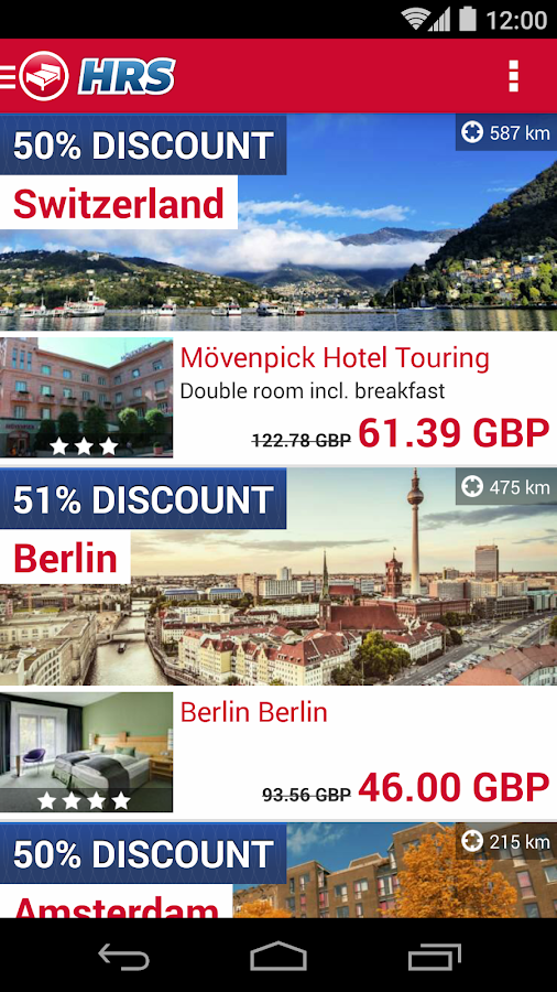 Hotel Search HRS (New) Screenshot
