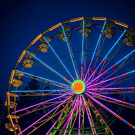 Ferris Wheel by Brianna McKinley - City,  Street & Park  Amusement Parks ( fairgrounds, amusement ride, summer, county fair, nevada county fair, ferris wheel )