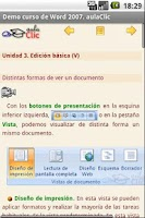 Screenshot of Curso Word 2007. Demo