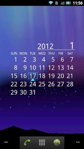 オーロラカレンダー