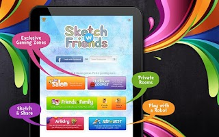 Screenshot of Sketch W Friends for Tablets