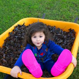 Leaves by Adam Barrilleaux - Babies & Children Children Candids ( girls, leaves )