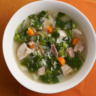Lemony Turkey, Escarole, and Rice Soup