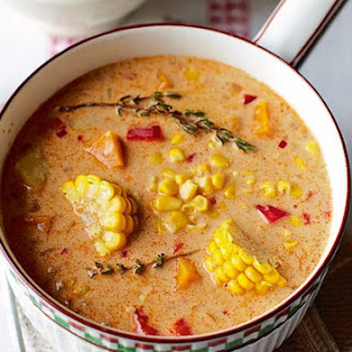 Jamaican Spiced Corn Soup
