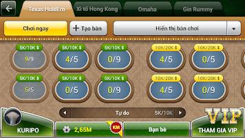 Screenshot of Beme - danh bai Phom, Lieng