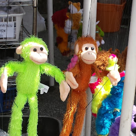 Hey Hey We're The Monkees! by Anne Johnson - Artistic Objects Toys ( toy, marionette, puppet, festival, monkey )