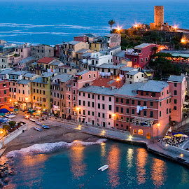 Vernazza, Italy at dusk. by Gale Perry - City,  Street & Park  Vistas (  )