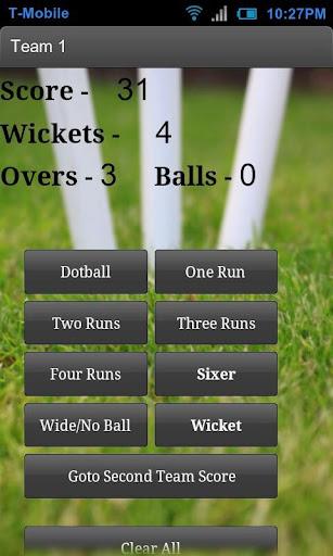 Cricket Score Counter
