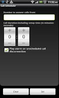 Screenshot of Call Scheduler