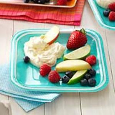 Fluffy Lemon Fruit Dip