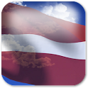 3D Latvia Flag icon