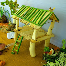 The vegetable hut by Asif Bora - Artistic Objects Other Objects