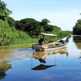 Barra do Ribeiro - RS by Maria Clezia Quirino - Transportation Boats