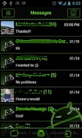Screenshot of GOSMS Theme - PoisonGreen