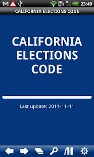 California Elections Code - screenshot