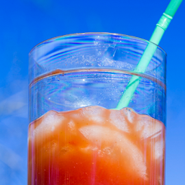 Top of the Morning by Jan Carter - Food & Drink Alcohol & Drinks ( mixed drink, sky, straw, ice, drink, cocktail, glass, bloody-mary, highball, sunshine,  )