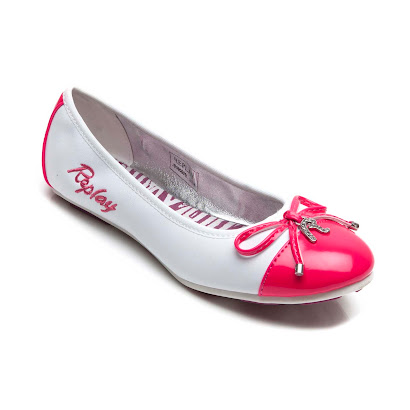 Replay Cables Patent Toe Pump BALLERINA