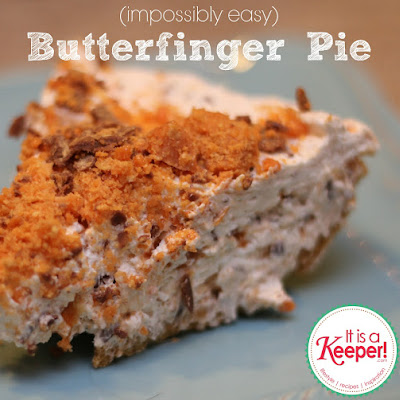 Easy No Bake Butterfinger Pie