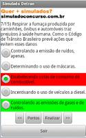Screenshot of Simulado da prova do Detran