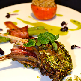 Lamb Rack with Pistachio Nuts by Ida Ayu Pratiwisari Pidada - Food & Drink Meats & Cheeses