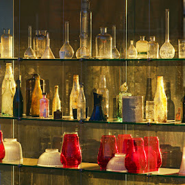 Old Bottles by Julien Johnston - Artistic Objects Glass (  )