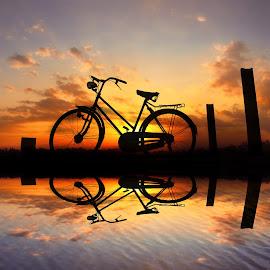 pit jengki by Indra Prihantoro - Digital Art Places ( sunset, sunrise, bicycle )