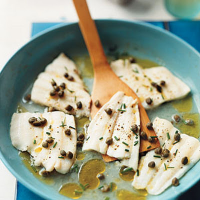 Poached Pacific Sole with Capers and Chives