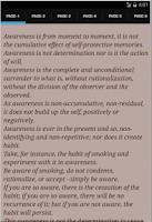 Screenshot of Awareness by J.Krishnamurti