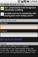 Screenshot of Scrobble Droid