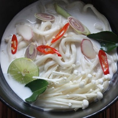 Tom Kha Udon Soup with Mushrooms
